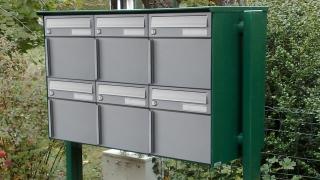 Ecoline Briefkasten mit Kantrohrstützen