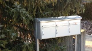 Skyline Briefkasten mit Seitenstützen