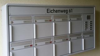 Briefkastengruppe mit Beschriftungsblende