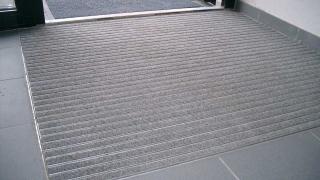 Innenmatte mit Teppichbelag Aluträgermatte