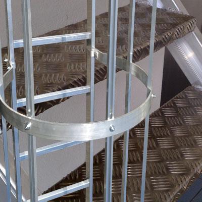 Fassadenleitern Industrietreppen Leitern Alutreppen