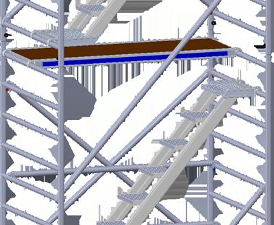 Rollgerüst mit Treppenaufgang