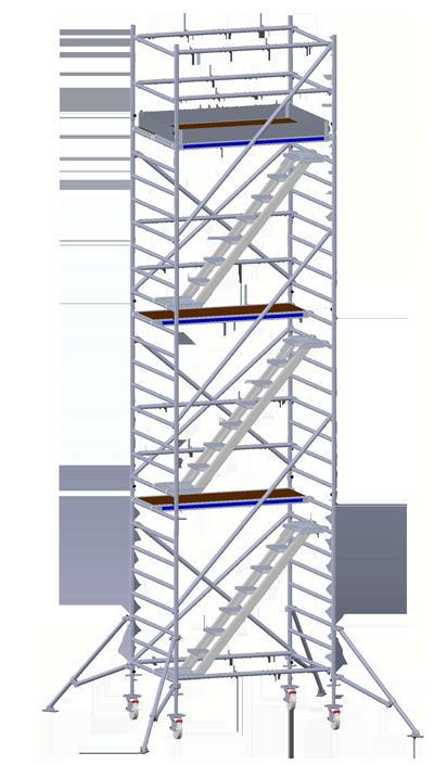 Rollgerüst mit Treppe
