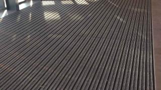 Eingangsmatte mit Rips und Bürstenbelag
