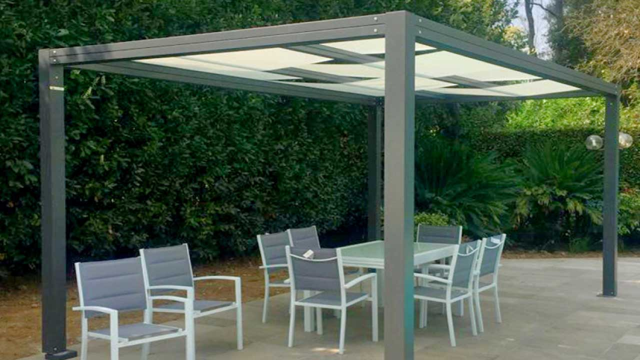 sonnenschutz pavillon mit faltdach qf88 kyushucon. Black Bedroom Furniture Sets. Home Design Ideas