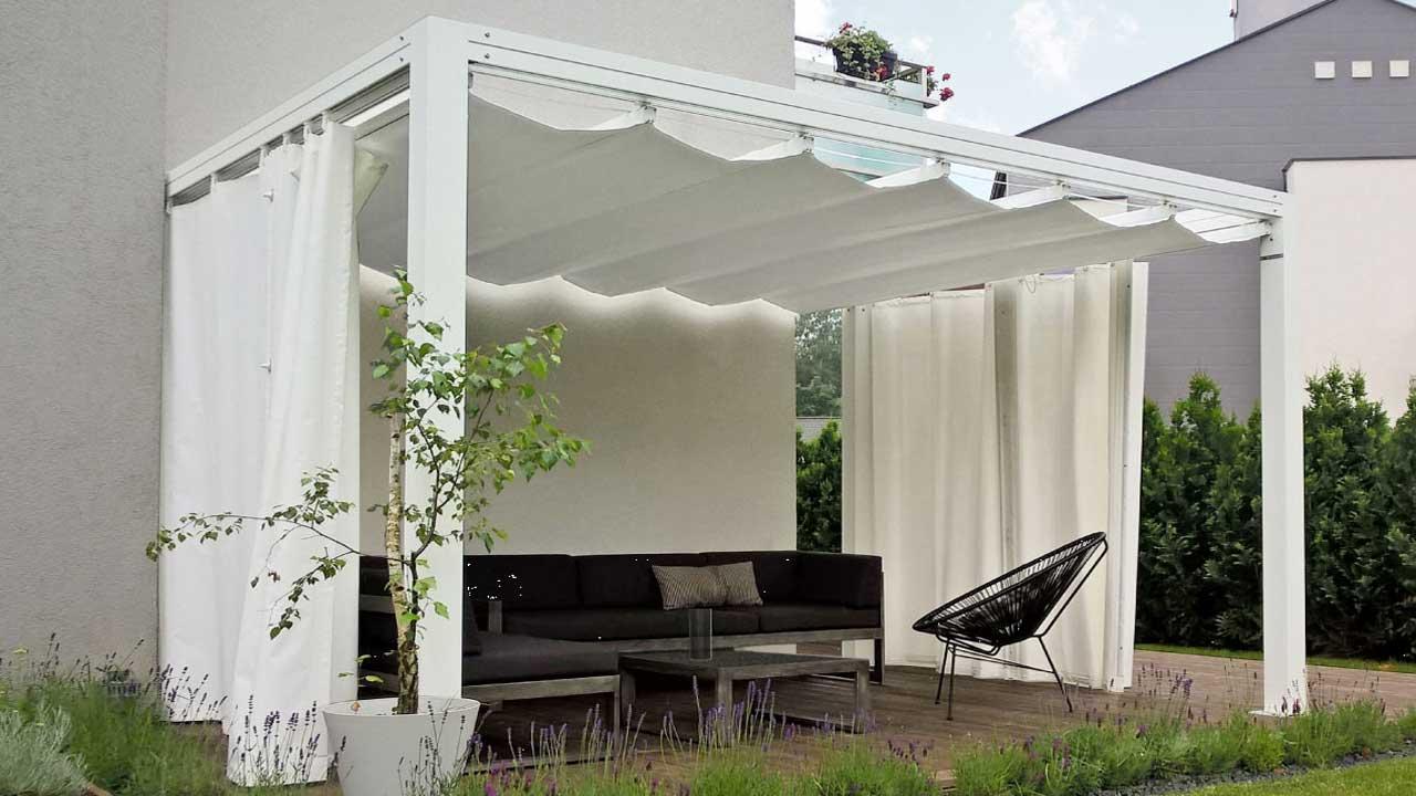 Kunststoff Pavillon Planen : Pavillon alu top die hochwertige beschattung und sichtschutz pergola